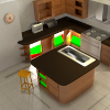 Inspecting a kitchen scene