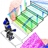Nao scanning a staircase