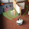Robot avoiding clutter